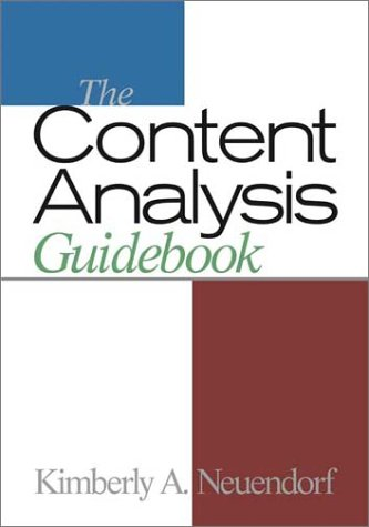 9780761919773: The Content Analysis Guidebook