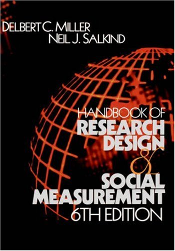 9780761920458: Handbook of Research Design and Social Measurement