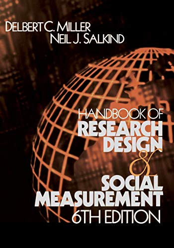 9780761920465: Handbook of Research Design and Social Measurement