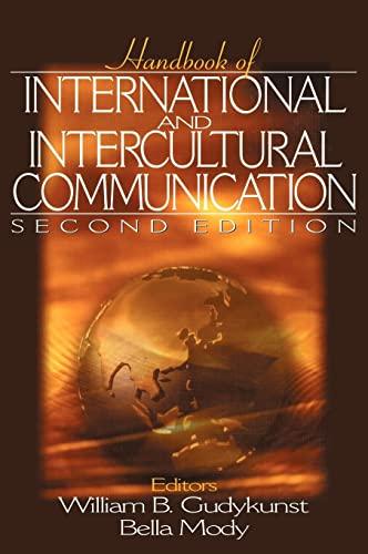 9780761920908: Handbook of International and Intercultural Communication
