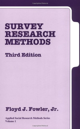 9780761921912: Survey Research Methods, Third Edition (Applied Social Research Methods Series Volume 1)