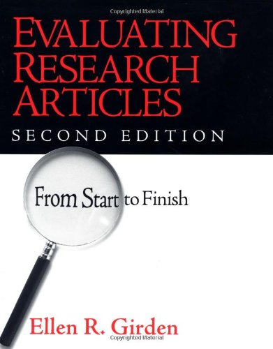 9780761922148: Evaluating Research Articles from Start to Finish, 2nd Edition