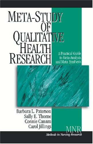 9780761924159: Meta-Study of Qualitative Health Research: A Practical Guide to Meta-Analysis and Meta-Synthesis