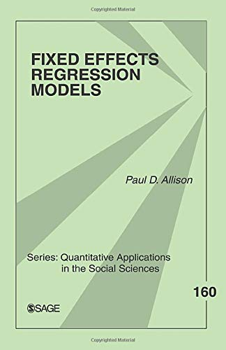 9780761924975: Fixed Effects Regression Models: 160