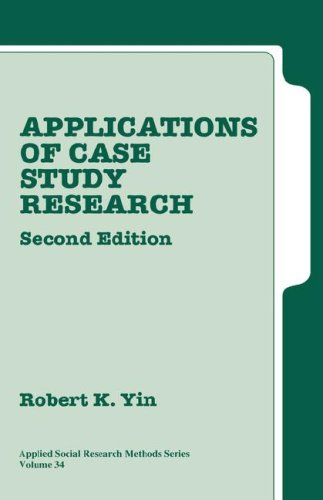 9780761925507: Applications of Case Study Research (Applied Social Research Methods)