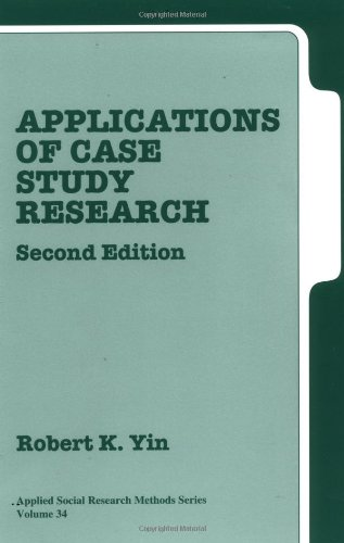 9780761925514: Applications of Case Study Research Second Edition (Applied Social Research Methods Series Volume 34)