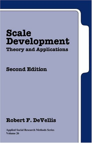 9780761926047: Scale Development: Theory and Applications (Applied Social Research Methods)