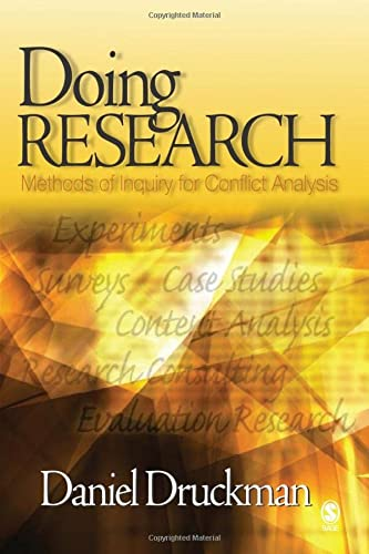 9780761927792: Doing Research: Methods of Inquiry for Conflict Analysis
