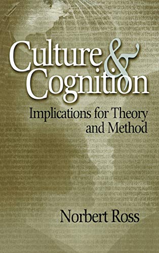 9780761929062: Culture and Cognition: Implications for Theory and Method