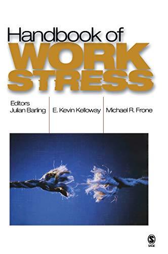 9780761929499: Handbook of Work Stress