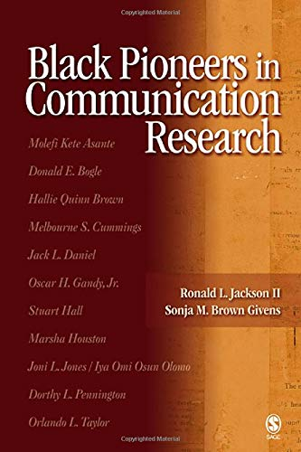 9780761929925: Black Pioneers in Communication Research