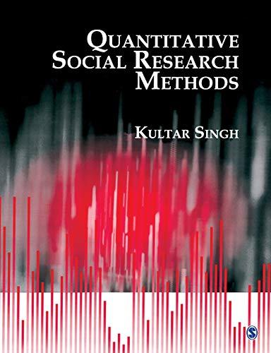 9780761933830: Quantitative Social Research Methods