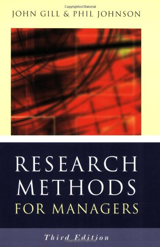 research methods for managers Using a wise technique, nevertheless with particular consideration to the place of precept in administration evaluation, the model new model of research methods for managers is a stimulating info for school college students in administration, group and group evaluation.