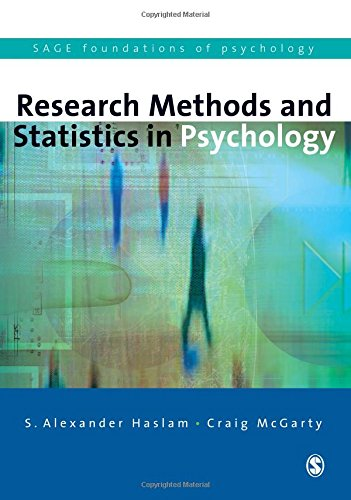 9780761942931: Research Methods and Statistics in Psychology (SAGE Foundations of Psychology series)