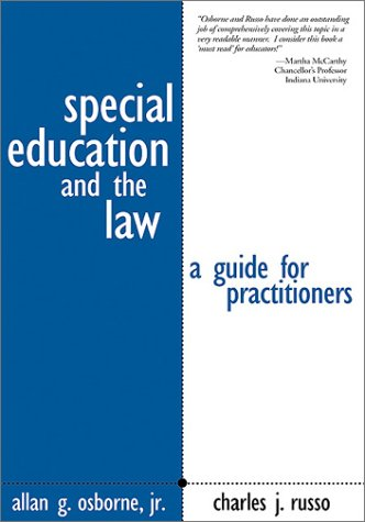 9780761946564: Special Education and the Law: A Guide for Practitioners