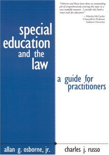 9780761946571: Special Education and the Law: A Guide for Practitioners