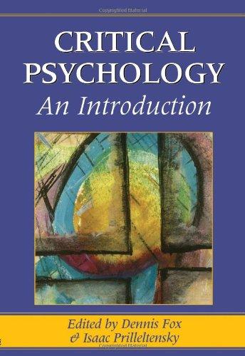 9780761952114: Critical Psychology: An Introduction