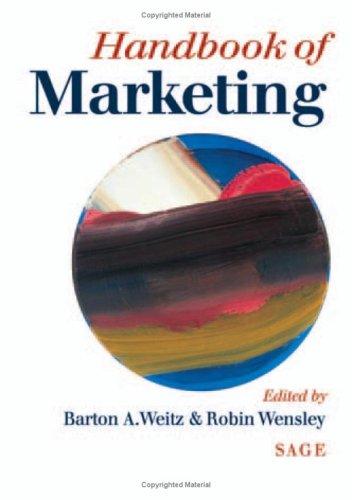 9780761956822: Handbook of Marketing