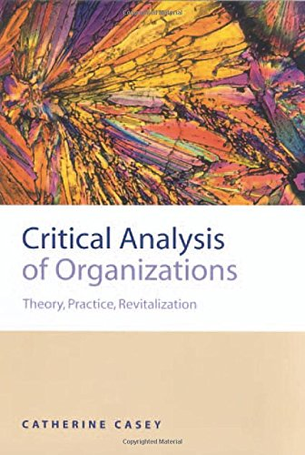 9780761959052: Critical Analysis of Organizations: Theory, Practice, Revitalization