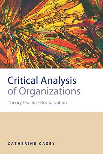 9780761959069: Critical Analysis of Organizations: Theory, Practice, Revitalization