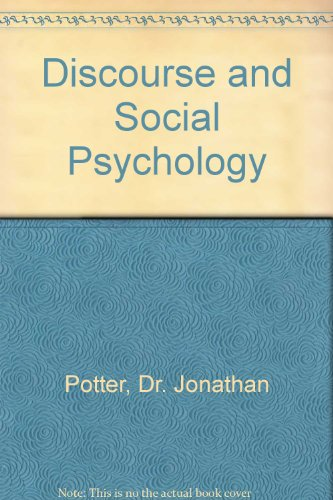 9780761960362: Discourse and Social Psychology