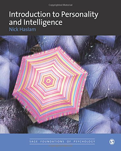 9780761960577: Introduction to Personality and Intelligence (SAGE Foundations of Psychology series)
