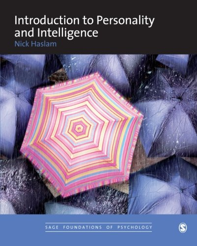 9780761960584: Introduction to Personality and Intelligence (SAGE Foundations of Psychology series)