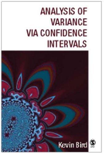9780761963585: Analysis of Variance via Confidence Intervals