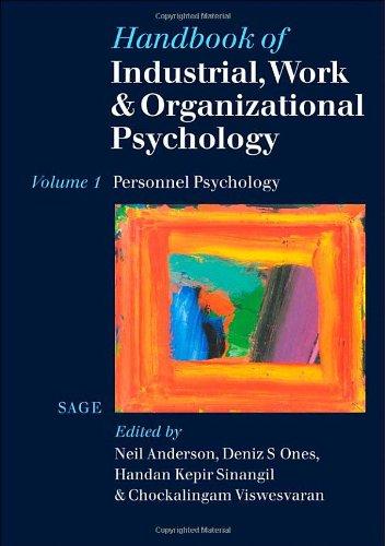 9780761964889: Handbook of Industrial, Work & Organizational Psychology: Volume 1: Personnel Psychology: Personnel Psychology v. 1 (Handbook of Industrial, Work and Organi)