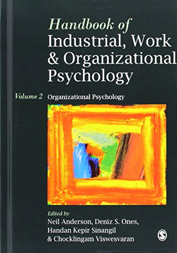 9780761964896: Handbook of Industrial, Work & Organizational Psychology: Volume 2: Organizational Psychology: Organizational Psychology v. 2 (Handbook of industrial, work and organizational psychology)