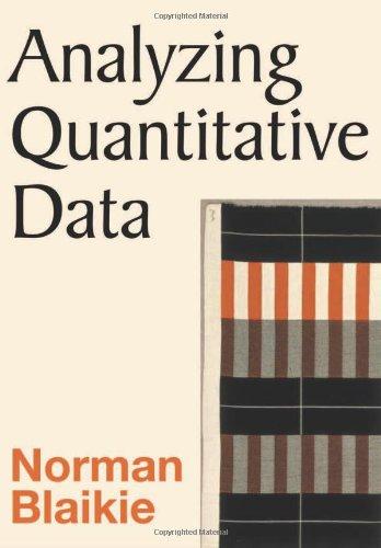 9780761967583: Analyzing Quantitative Data: From Description to Explanation