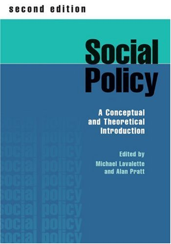 9780761969525: Social Policy: A Conceptual and Theoretical Introduction