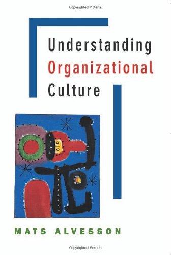 9780761970064: Understanding Organizational Culture