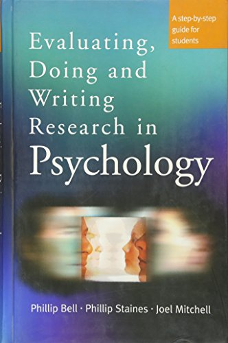 9780761971740: Evaluating, Doing and Writing Research in Psychology: A Step-by-Step Guide for Students