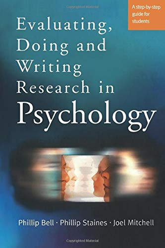 9780761971757: Evaluating, Doing and Writing Research in Psychology: A Step-by-Step Guide for Students