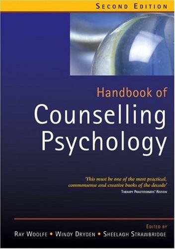 9780761972068: Handbook of Counselling Psychology