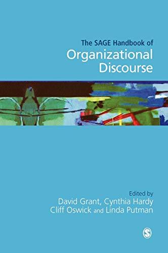 9780761972259: The SAGE Handbook of Organizational Discourse