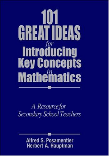 9780761975120: 101 Great Ideas for Introducing Key Concepts in Mathematics: A Resource for Secondary School Teachers