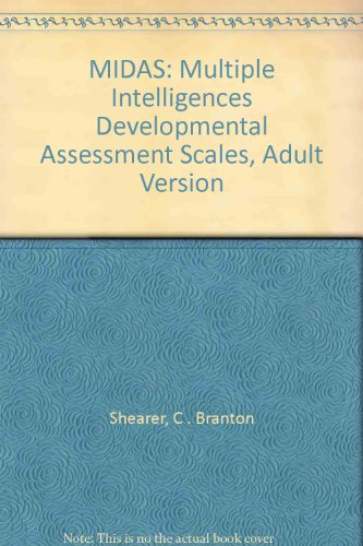 9780761976226: MIDAS: Multiple Intelligences Developmental Assessment Scales, Adult Version
