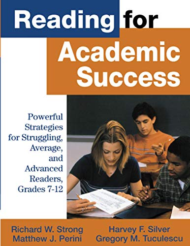 9780761978343: Reading for Academic Success: Powerful Strategies for Struggling, Average, and Advanced Readers, Grades 7-12