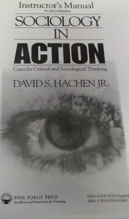 9780761987291: Instructor's Manual for Sociology in Action: Cases for Critical and Sociological Thinking