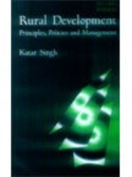 9780761993094: Rural Development: Principles, Policies and Management