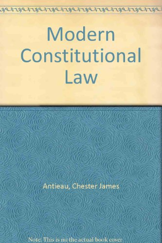 9780762001941: Modern Constitutional Law