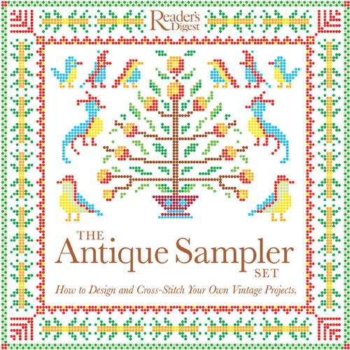 9780762106318: The Antique Sampler Set: How to Design and Cross-Stitch Your Own Vintage Projects