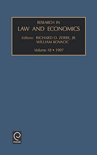 9780762301218: Research in Law and Economics: 18