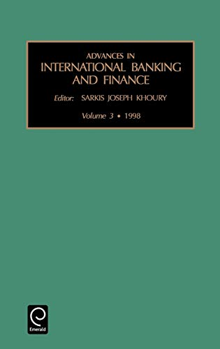 9780762303175: Advances in International Banking and Finance, Volume 3 (Advances in International Banking & Finance) (Advances in International Banking & Finance)