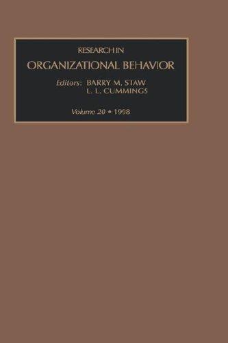 9780762303663: Research in Organizational Behavior, Volume 20