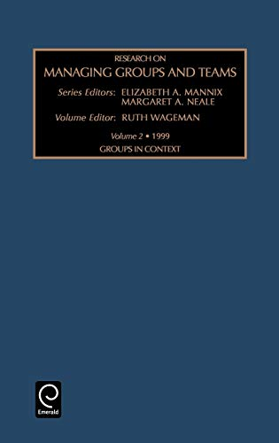 9780762305117: Research On Managing Groups and Teams: Groups in Context (Volume 2) (Vol 2)