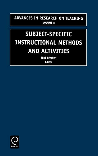 9780762306152: Subject-Specific Instructional Methods and Activities (Advances in Research on Teaching)