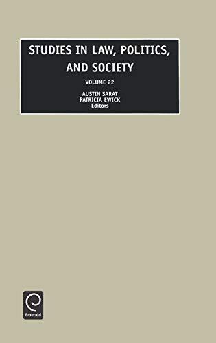 Studies in Law, Politics and Society; Volume 22: Sarat, Austin; Ewick, Patricia (eds.)